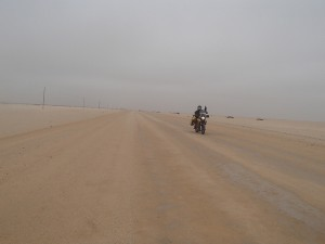 Heading away from Henties Bay , Namibia