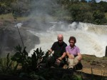 Nina and Clive at the top of the Murchisson falls, Uganda