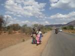 Clourful ladies in Tanzanka. Difficult to photo....
