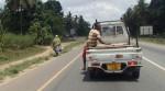 Hitching a ride, Tanzania