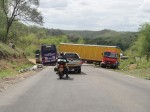 Yet another jack knifed lorry, Tanzania.