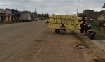 This pikipiki loaded up with these cans was about to set off. Did he manage to move? Uganda