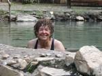 Nina enjoying Kapysha hot springs, Zambia