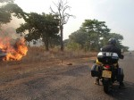 Endless fires rabing in Zambia. Whole country seemed on fire