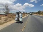 Charcoal on the move via bicycle
