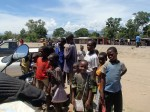 A puncture repair creates a standard african audience in Malawi.