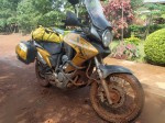 Clive's bike after the rainy day, Tanzania
