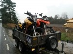 Two motorbikes finally nearing home on February 6th 2014