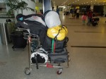 Jakarta airport.. All our bags for 2 months