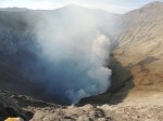 Bromo crater, smoking away.