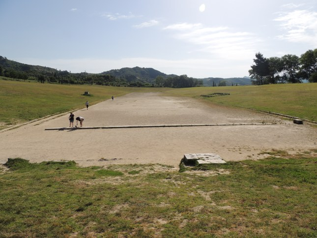 The running track at Olympia