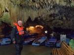 Underwater cavern trip