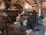 Weaving Harris Tweed in a Black house in Lewis