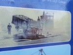 Depicting how the trailers tipped into the barges on the canal.