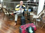 Clive at St Pancreas with all bags