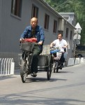 Some are still on their cycles but not so many. Most have something electric now. Beijing