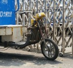 This electric bike may have seen better days. Beijing