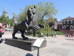 Statue in Irkutsk.