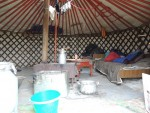 A real mongolian family live in this yurt...