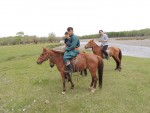 My riding companions, the female guide, the mongolian farmer and the japanese tourist
