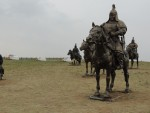 Sadly one of these statues appeared to have been stolen.  Mongolia