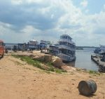 Ferry boats on the Rio negro at Manaus