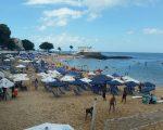 Salvador beach scene in Barra.