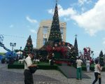 Christmas decorations in the old city, Salvador.