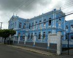 Wonderful hospital building in a small fairly grotty town..near Camamu