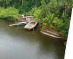 Boats on the river at Camamu