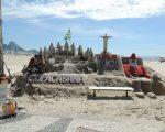 Copacabana sand castle.