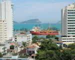 Supply vessels just off the beach, Macae