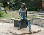 Brigitte Bardot statue. She came here ( Buzios)for 4 days only!