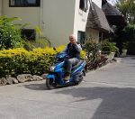 Clive on his Raratongan scootor