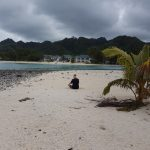A dry enough day to take a kayak ride to an island and look at the hotel, Muri, Raratonga