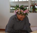 Lovely people often sporting their flowers in their hair whilst working otr even shopping, Raratonga