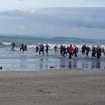 The Beach series swimming race at Takapuna, New Zealand. The weather was a bit wild..