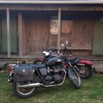 The two bikes outside our cabin in Pukenui.
