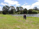 Nina and Clive by the Waitangi River at Julian's
