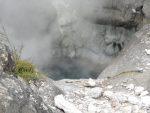 A hot hole in Te Puia geyser park, Rotorua